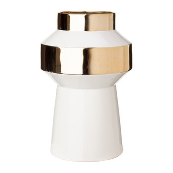 Object Vase - White & Gold
