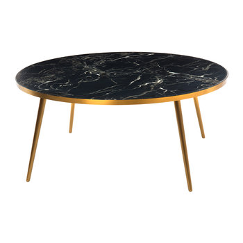 Marble Look Coffee Table - Black