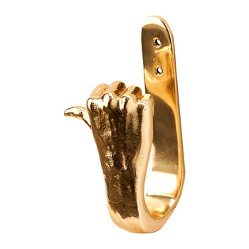 Gold Hands Wall Hook - Thumbs Up