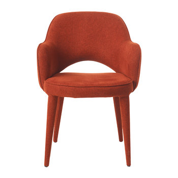 Cozy Fabric Chair - Rust