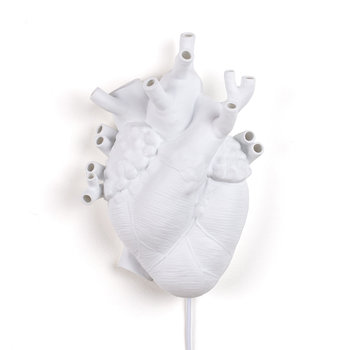 Love In Bloom Porcelain Heart Lamp