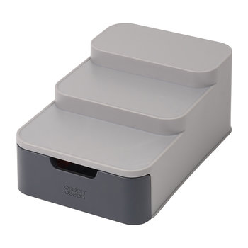 'CupboardStore' Compact Tiered Organiser - Grey