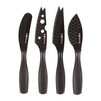 Monaco Mini Cheese Knife Set - Black