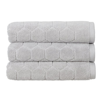 Honeycomb Towel - Platinum