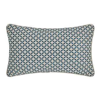 Penzance Pillow - 30 x 45cm - Peacock