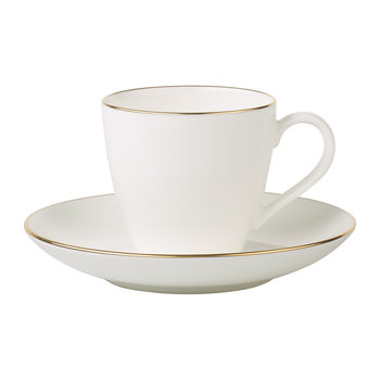 Anmut Gold Espresso Cup & Saucer