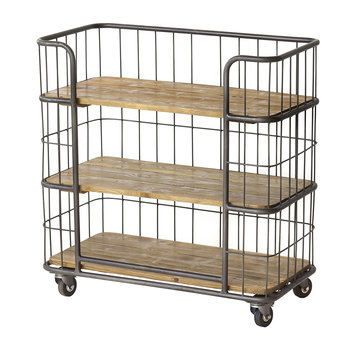 3 Tier Shelf Unit With Wheels