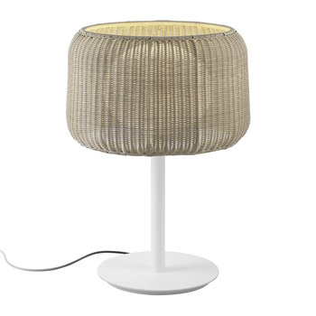 Fora Rattan Table Lamp - Beige