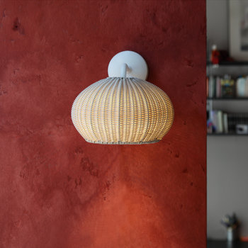 Garota Rattan Wall Light - Ivory