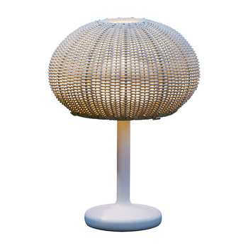 Garota Rattan Table Lamp - Ivory