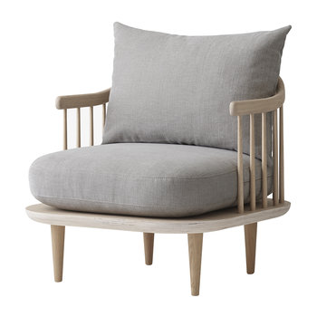 SC10 Fly Chair - White Oiled Oak/Hot Madison 094