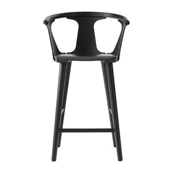Counter Wooden Stool - Black