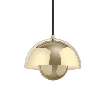 Flowerpot Pendant Light - Polished Brass