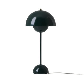 Flowerpot Table Lamp - Dark Green