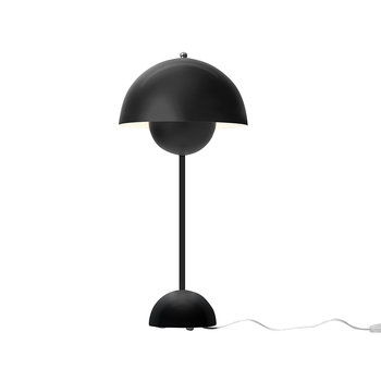 Flowerpot Metal Table Lamp - Matt Black
