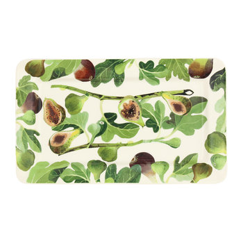 Vegetable Garden Figs Oblong Plate