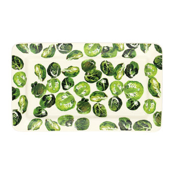 Vegetable Garden Sprouts Oblong Plate
