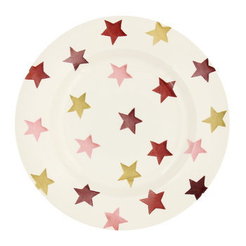 Pink & Gold Stars Salad Plate