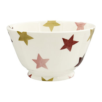 Pink & Gold Stars Bowl - Cereal Bowl