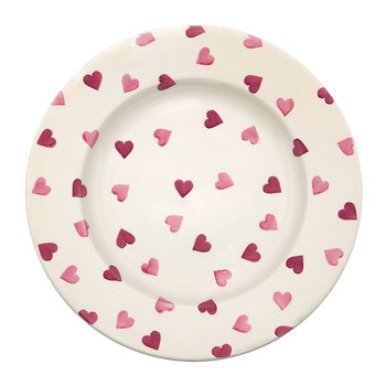 Pink Hearts Plate - Dinner Plate
