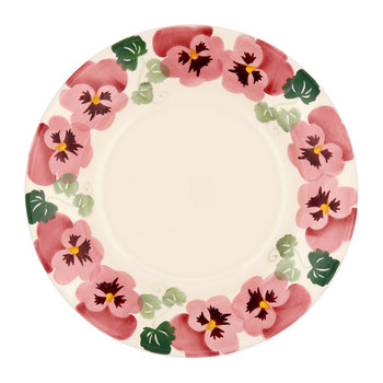 Pink Pansy Plate - Salad Plate