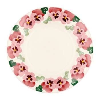 Pink Pansy Plate - Dinner Plate