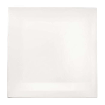 Table Square Plate - White - Dinner Plate