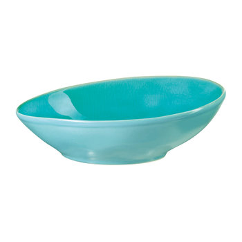 Beach Crackle Bowl - Turquoise - Salad Bowl