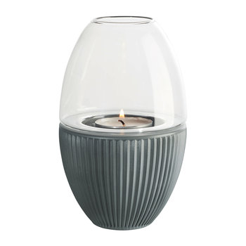 Yoko Lantern with Glass Cover - Basalt