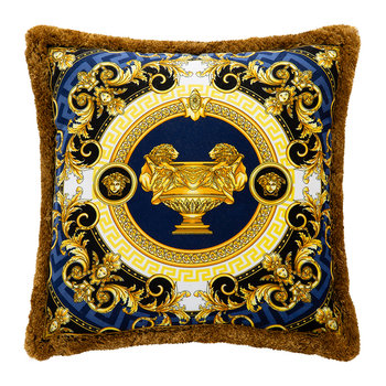 La Coupe Des Dieux Cushion - 45x45cm - Blue/Black/Gold