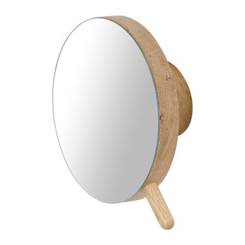 Slimline Magnify Wall Mirror - Oak