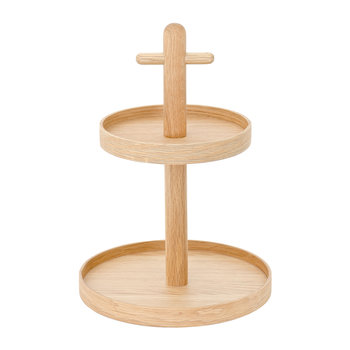 Wooden Two Tier Fruit & Condiment Rack