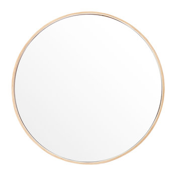 Glance Round Wall Mirror - Oak