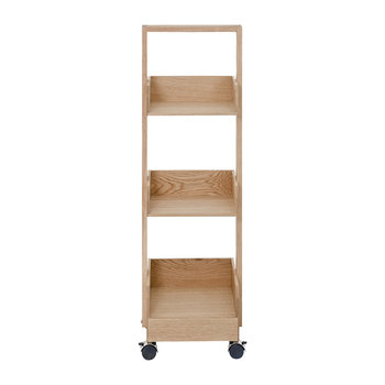 Mini Bookie Roller Shelf - Oak