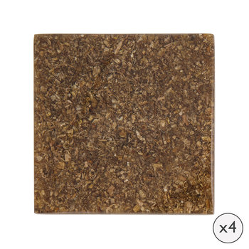 Wood Chip Coaster - Set of 4