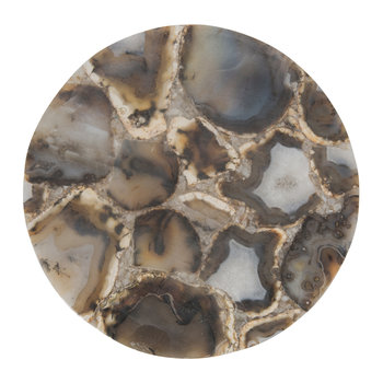 Agate Round Platter - Brown