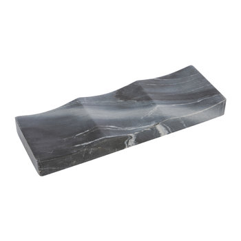 3 Bottle Marble Wine Tray - Grey