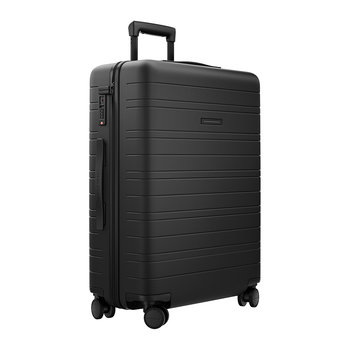 Smart Hard Shell Suitcase - All Black - Medium