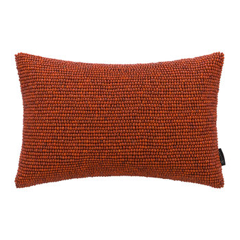 Beaded Cushion - Orange