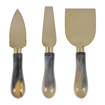 Buffalo Horn Cheese Knives - Set of 3