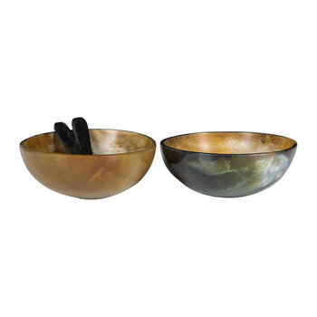 Buffalo Horn Serving Dish & Spoon - Set of 2