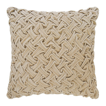 Abstract Textured Cushion - 50x50cm - Champagne