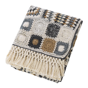 Crochet Fringe Throw - 130x170cm