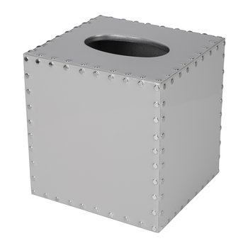 Aero Tissue Box - Gravel/Silver