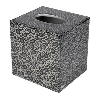 Proseco Tissue Box - Black/Silver