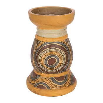 Terracotta Patterned Candle Stand