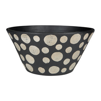 Black & White Spot Terracotta Bowl