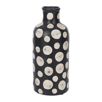 Black & White Spot Tall Vase