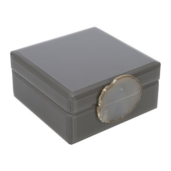 Agate Handle Box - Gray