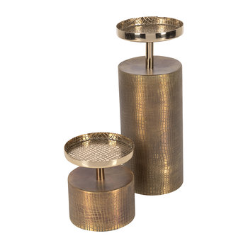 Marwood Pillar Candle Holder - Brass